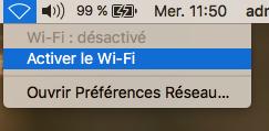 Se connecter au réseau Wifi de l'ICP Mac 1