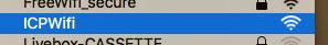 Se connecter au réseau Wifi de l'ICP Mac 2