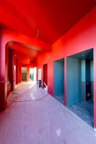 chantier immobilier - couloirs