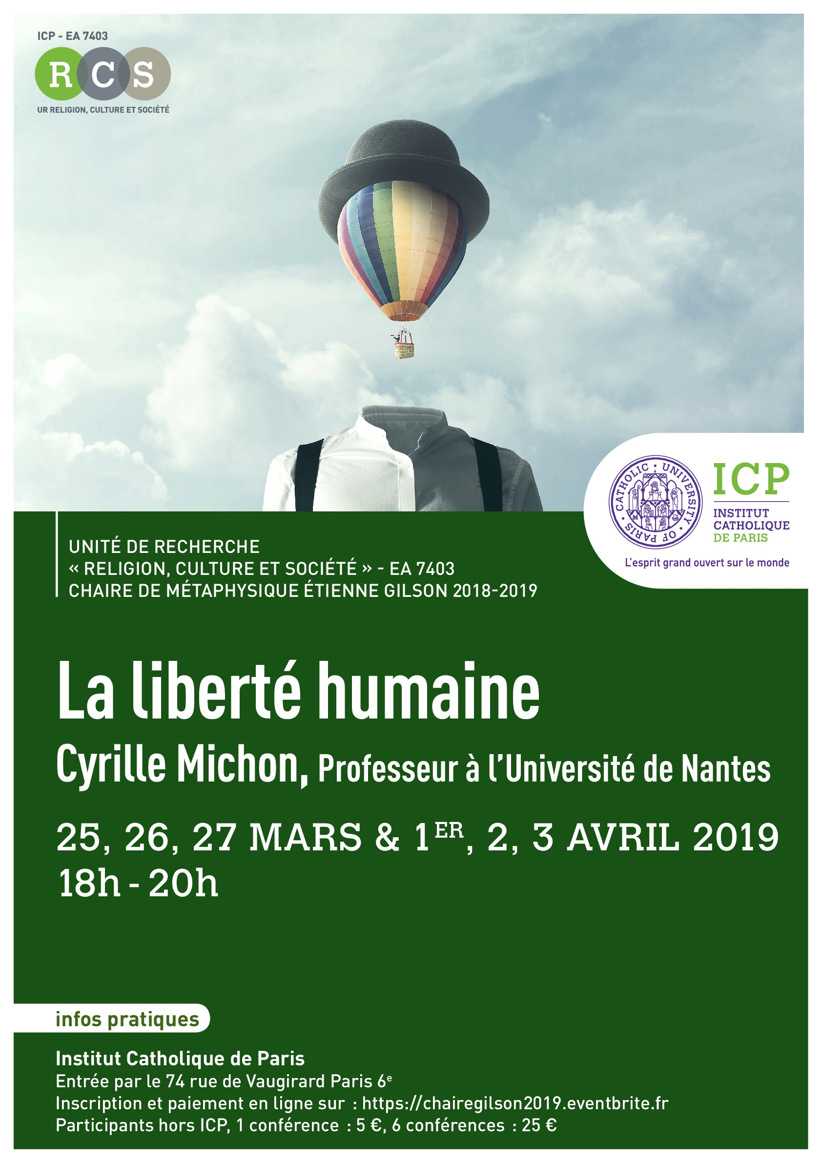 Affiche Chaire Gilson 2019