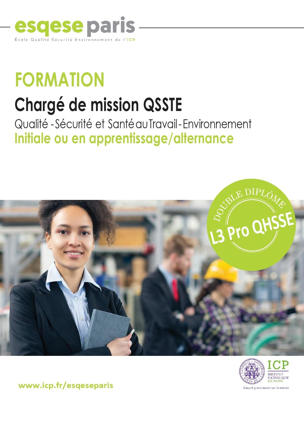 Brochure L3 Pro QHSSE 2021-2022 - ICP/Esqese
