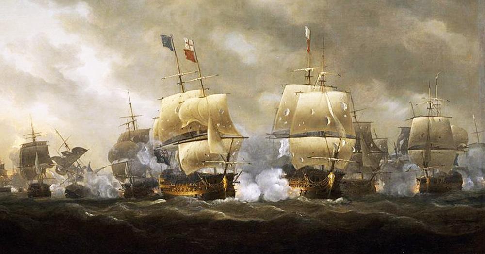 Nicholas Pocock -Bataille des cardinaux-1812