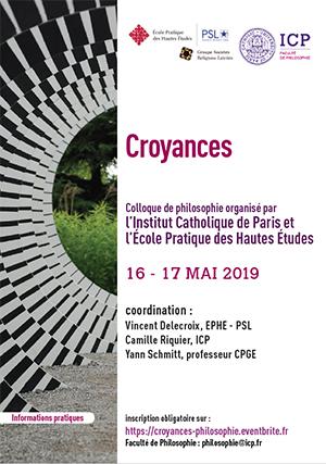Croyances - colloque de philosophie - ICP