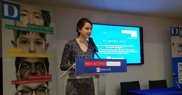 Noémie Paté prix thèse