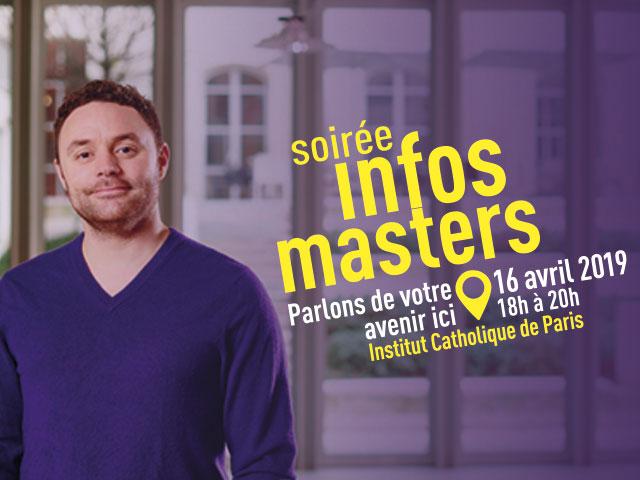 Soirée Info Master ICP le 16 avril 2019