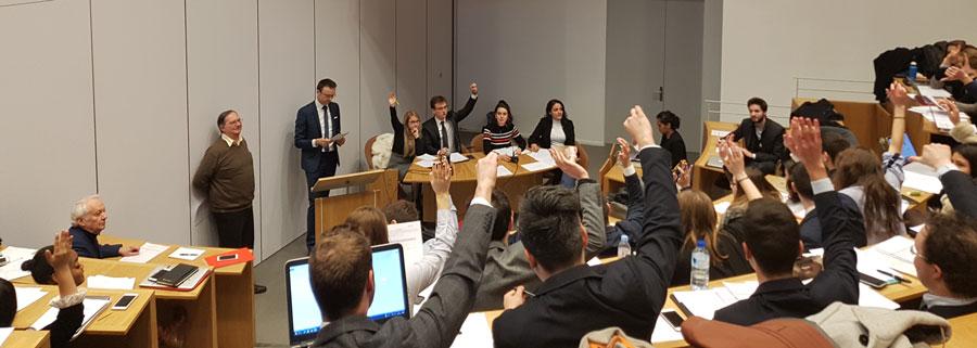 Simulation de délibération au Parlement Européen
